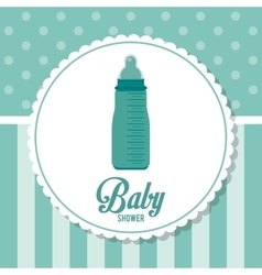 Baby Shower design baby bottle icon Blue vector image