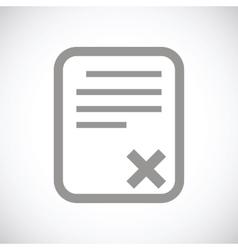 Bad document black icon vector