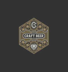 Beer label design vector