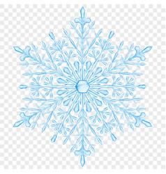 Big translucent christmas snowflake vector