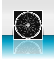 Bike wheel - flyer or cover design vector