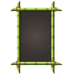 Blackboard in square bamboo frame - menu signboard vector image