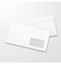 Blank paper envelopes Email marketing vector image