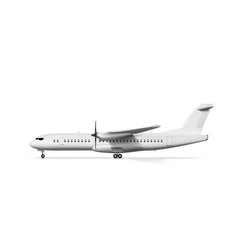 blank white airplane or airliner side view vector image