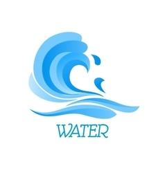 Blue ea wave abstract symbol vector