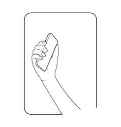 Border smartphone in hand 3 vector