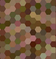 Brown color hexagon mosaic background design vector