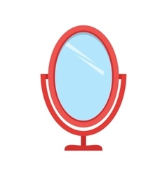 Brush and mirror vector