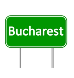 Bucharest road sign vector