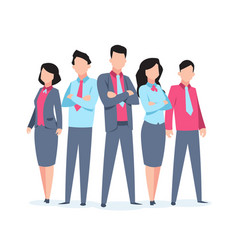 business characters team work office people vector image