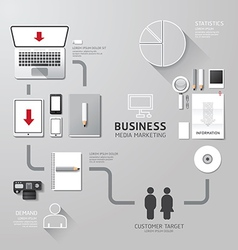 business infographic corporate identity set design vector image