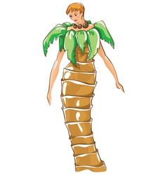 Carnival costumes palm tree vector