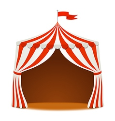 Circus tent on white backgound vector
