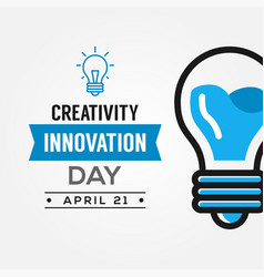 Creativity and innovation day design vector