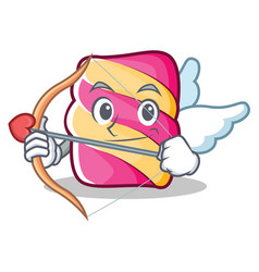 Cupid marshmallow character cartoon style vector