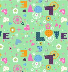 cute seamless love vector image