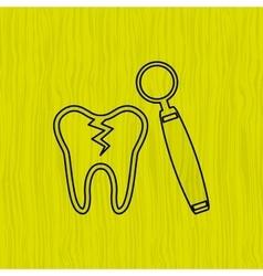 Dental health care design vector