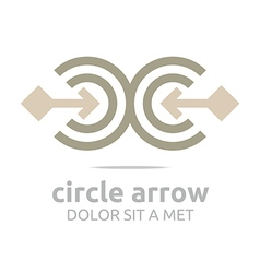 design letter c arrow brown icon symbol vector image