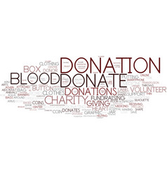 Donations word cloud concept vector