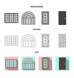 Door and front sign vector