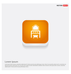 Dressing table icon orange abstract web button vector