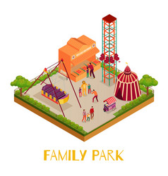 family park isometric vector image