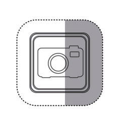 figure emblem cemera technology icon vector image vector image