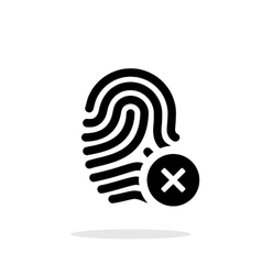 Fingerprint rejected icon on white background vector image