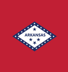 Flag american state arkansas vector