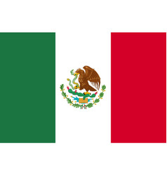 flag mexico flat icon vector image