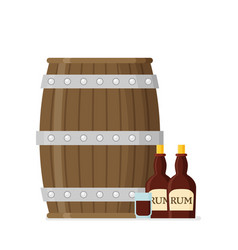 flat rum set vector image
