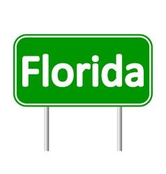 Florida green road sign vector