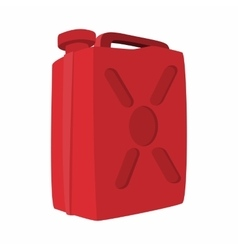 Fuel container jerrycan cartoon icon vector image