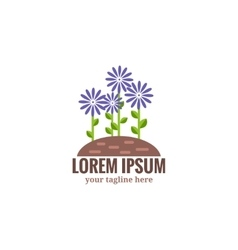 Gardening and floriculture logo vector