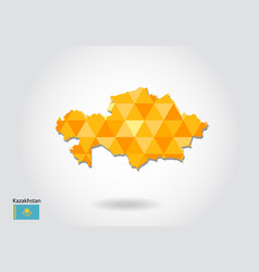 geometric polygonal style map of kazakhstan low vector image