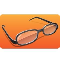 glasses eps 10 vector image
