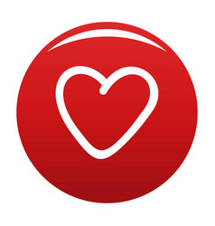 Greedy heart icon red vector