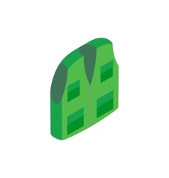 Green hunter vest isometric 3d icon vector