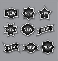 halftone advertising stickers vector image