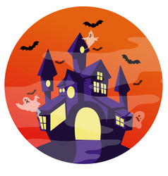 halloween haunted castle vector image