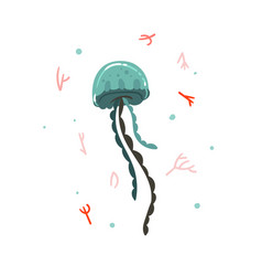 Hand drawn abstract cartoon graphic summer vector