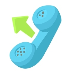 Handset outgoing call icon cartoon style vector image