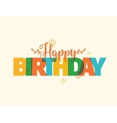 Happy Birthday typography design vector