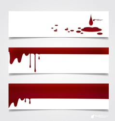 Happy Halloween design banners Blood dripping on vector image vector image