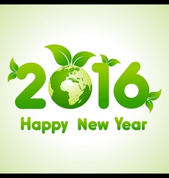 Happy New Year 2016 background with save the world vector image
