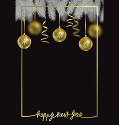 Happy new year luxury winter holiday card vector
