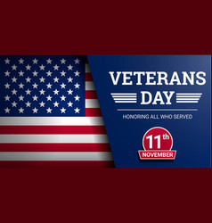 Happy veterans day concept background realistic vector