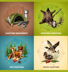 hunting design concept vector image
