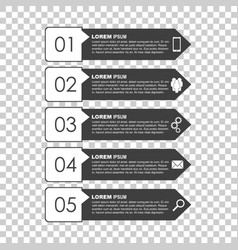 infographic templates for business black and vector image