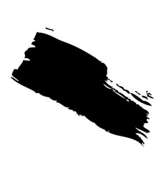 ink brush stroke and texture black paint vector image